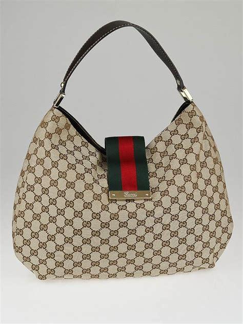 Bag Gucci Hobo Canvas 9102 Semprem gucci beige gg canvas new web hobo bag yoogi s closet