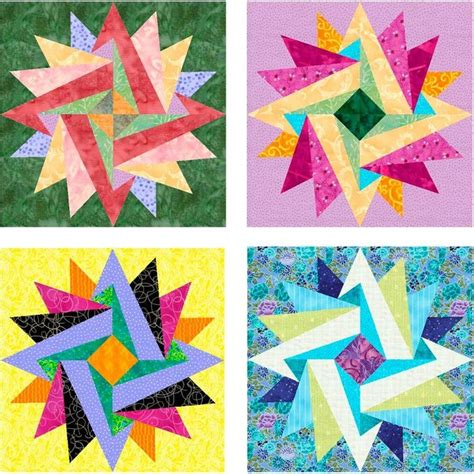 Paper Quilting Designs by Indian Summer Paper Pieced Block Pattern Quilting