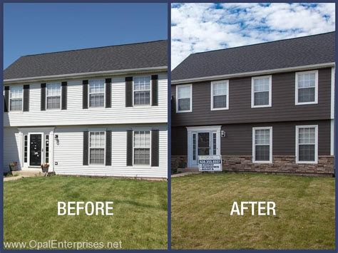 before after rich espresso hardie siding in