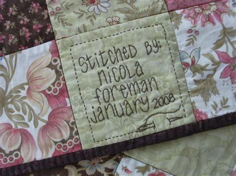 How To Make Labels For Quilts by Quilt Labels Nicola Foreman Quilts