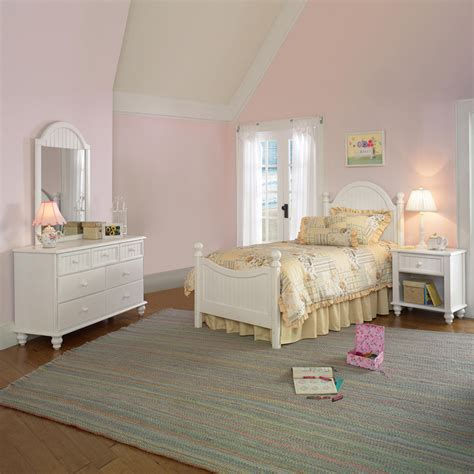 twin white bedroom set shop hillsdale furniture westfield off white twin bedroom set at lowes com