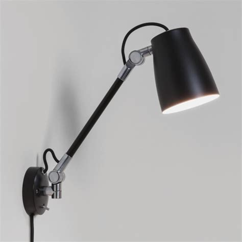 Astro Atelier Grande wall mounted reading light with switch 28W E27 black Liminaires