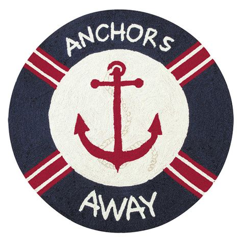 c and f enterprises rugs sail away anchors away hooked rug 36 quot c f enterprises