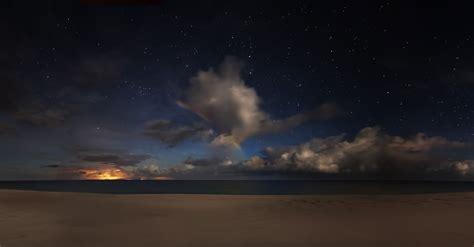 starry sky  beach wallpaper  background image