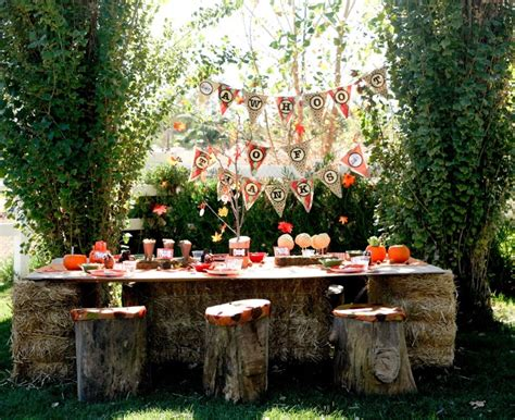 fall backyard party ideas kids outdoor halloween party pictures photos and images