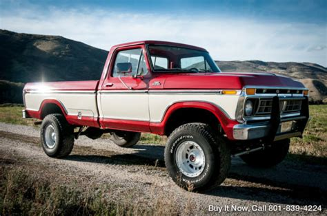 Ford 10k by 1977 Ford F 250 Custom Highboy 4wd One Owner 400 V8
