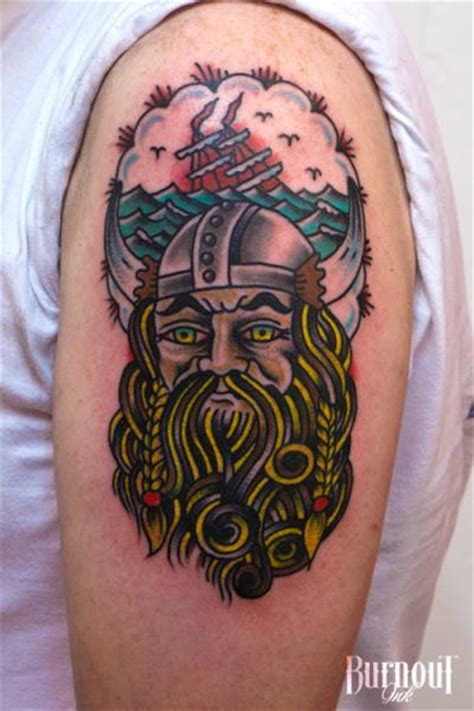 shoulder new viking tattoo by burnout ink