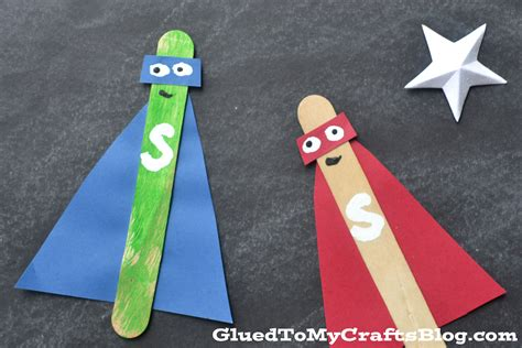 popsicle stick craft popsicle stick superheroes kid craft
