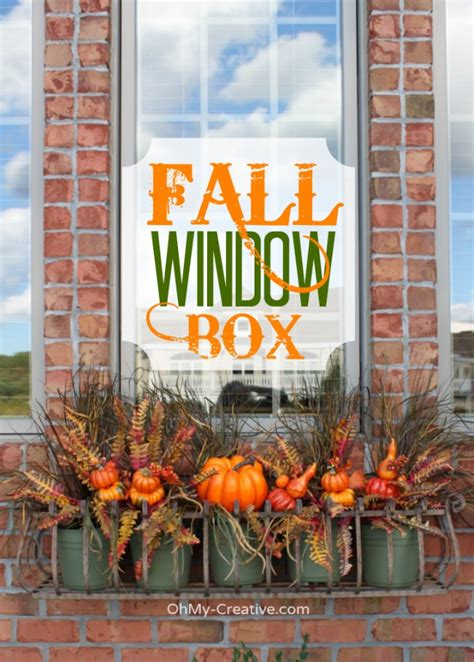 fall window decorations create a fall window box oh my creative