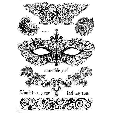 tatouage temporaire ou ephemere en dentelle masque