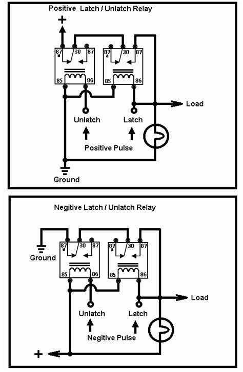 latching relay diagram latching relay to use a momentary button