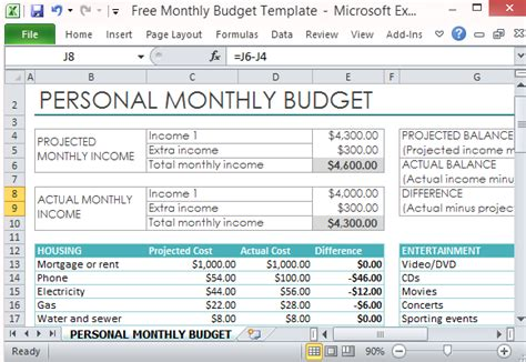 how to make a home budget plan free personal monthly budget template for excel