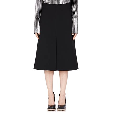marni s a line mid length skirt in black lyst