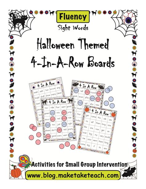 halloween themed words halloween themed 4 in a row game boards make take teach
