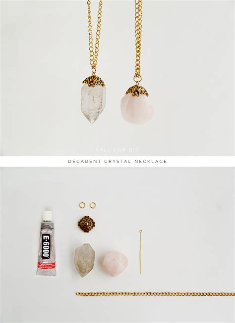 how to make jewelry with crystals diy decadent necklace fall for diy