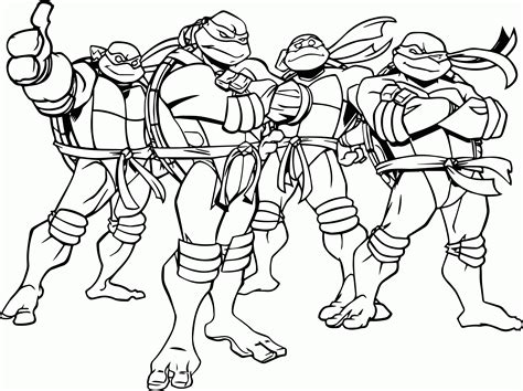 Free Printable Teenage Mutant Ninja Turtles Coloring Pages Tmnt Colouring Pages