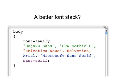maxdesign css layout css font stacks