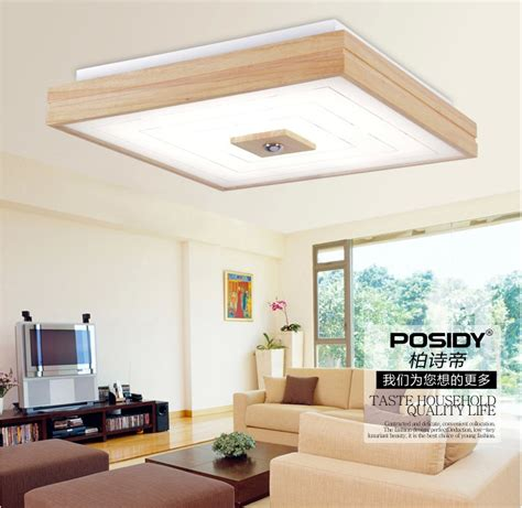 Small Decorative Lights For Bedroom by 2015 New Square Design Simple Modern Wood Led Ceiling