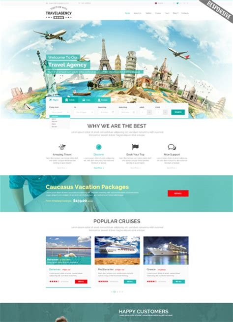 travel agency html template travel website templates