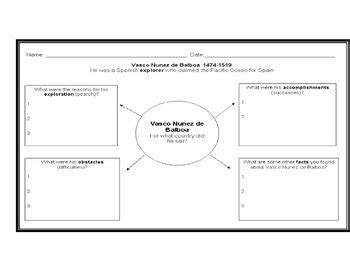 explorers biography graphic organizer european explorers graphic organizers 6 by angela