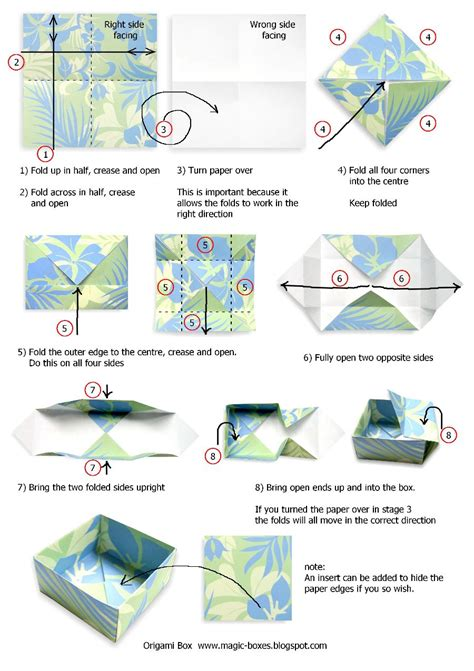 Box Origami - how to make a origami box step car interior design