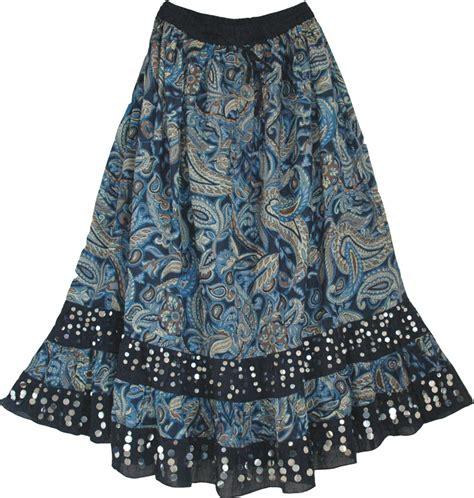 blue paisley skirt sequin skirts