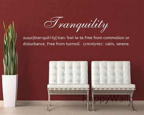 tranquility definition quote wall sticker decorating diy