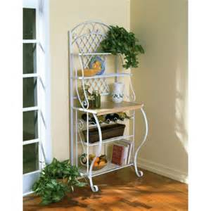White Metal Bakers Rack Verysmartshoppers White Metal Bakers Rack With 5 Shelves