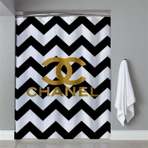 coco chanel bathroom chevrond coco chanel shower curtain bathroom pinterest coco chanel bathroom