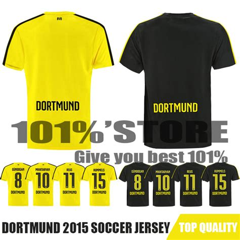 Jersey Dormund Home 15 16 new top camisa borussia dortmund 15 16 soccer jerseys dortmund fc home away marco reus jersey