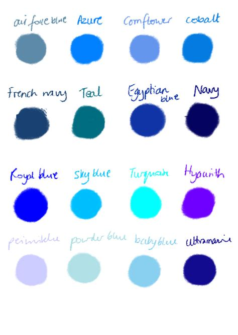 shades of blue chart color of the month mass fashion 101