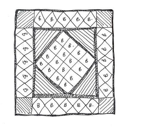 bettdecke zeichnung quilt drawing sketches sketch coloring page