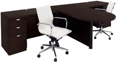 two person peninsula desk mocha 2 person collaborative peninsula workstation