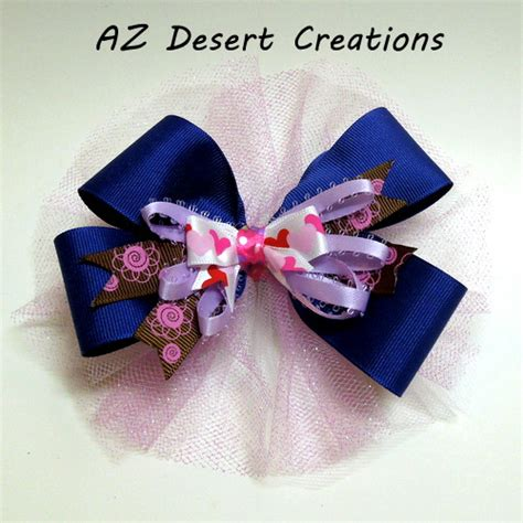 Handmade Hair Bows - a bit of hair bow with alligator clip handmade