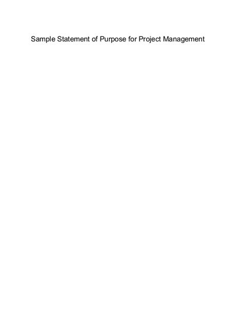Project Management Lecture Notes For Mba by Sle Mba Statement Of Purpose For Project Management