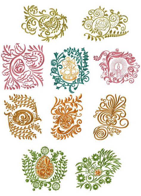 embroidery design motifs abc designs easter motifs machine embroidery designs set 4