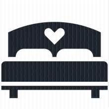 bed symbol couple s bed icon from lyra collection icon alone