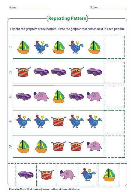 repeating pattern interactive games math worksheets 4 kids math worksheet website really