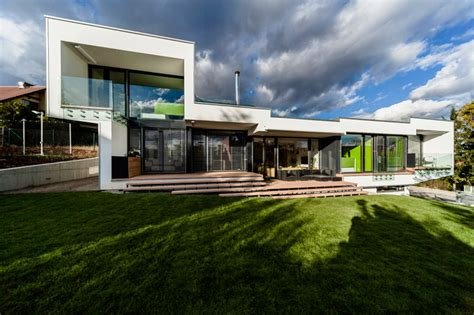 cantilever home sloped semi cantilever house by grido architektura