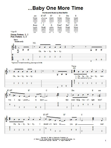 One Time Guitar Chords