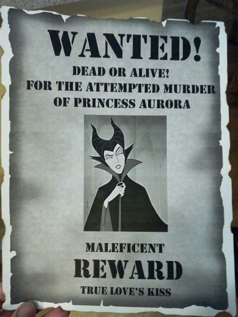 maleficent wanted poster decoration   daughters