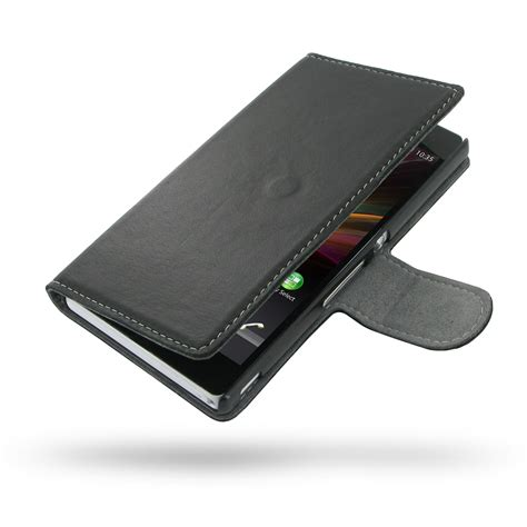 Flip Cover Sony Ericson Experia Z L36h Flipcase Karakter Exp T1310 sony xperia z leather flip cover pdair sleeve pouch holster