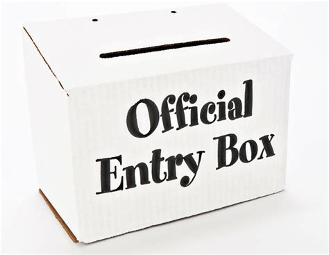 Drawing Entry Box five things you can do with sweepstakes entry forms
