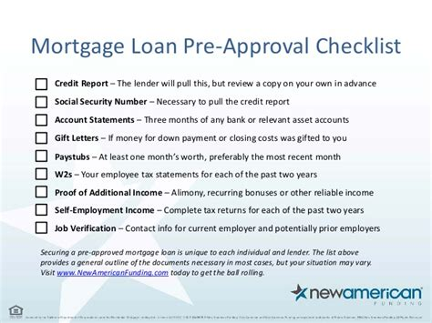 Mortgage Check Up Letter 5 Things You Need To Be Pre Approved For A Mortgage Loan