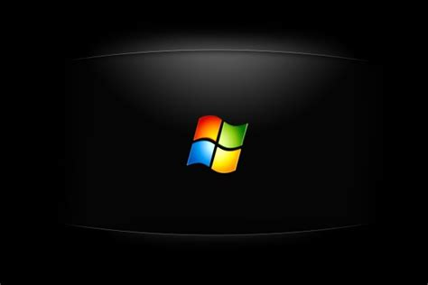 imagenes en negro windows logo de windows en fondo negro 24348