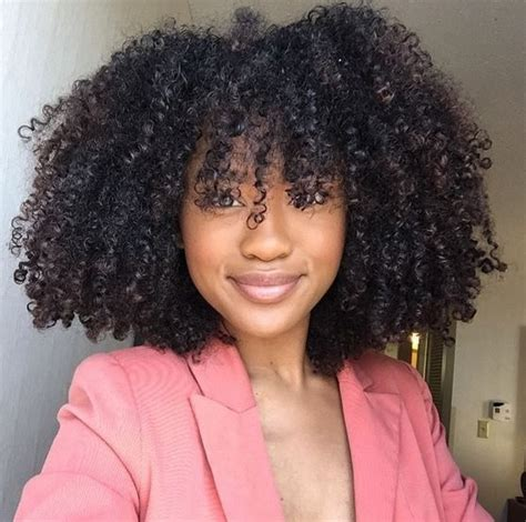 how to cut natural curly hair yourself charming 10 black natural hairstyles with bangs for women