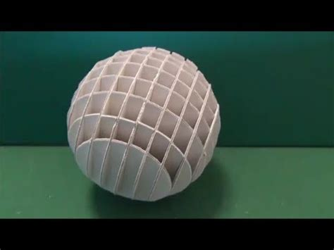 Papercraft Sphere - 厚紙で球体を作る ペーパークラフトa sphere is made from pasteboard
