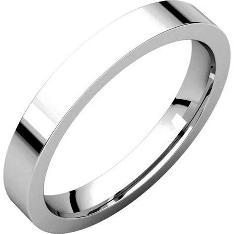 comfort fit wedding band 118381pp platinum flat comfort fit 3mm wide wedding ring