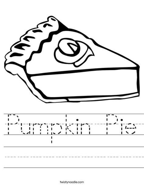 pumpkin pie worksheet twisty noodle