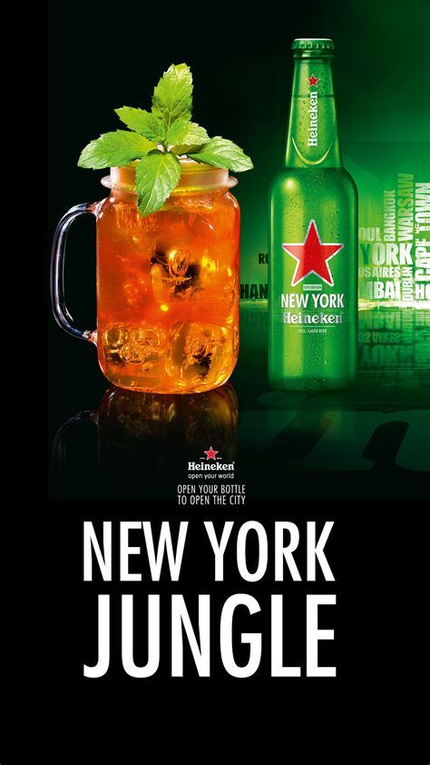 New York Jungle Cocktail Beer Heineken Android Wallpaper